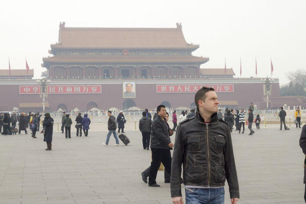 Rob at Tiananmen Square