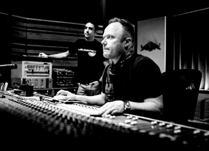Simon Mills hard at work in the studio