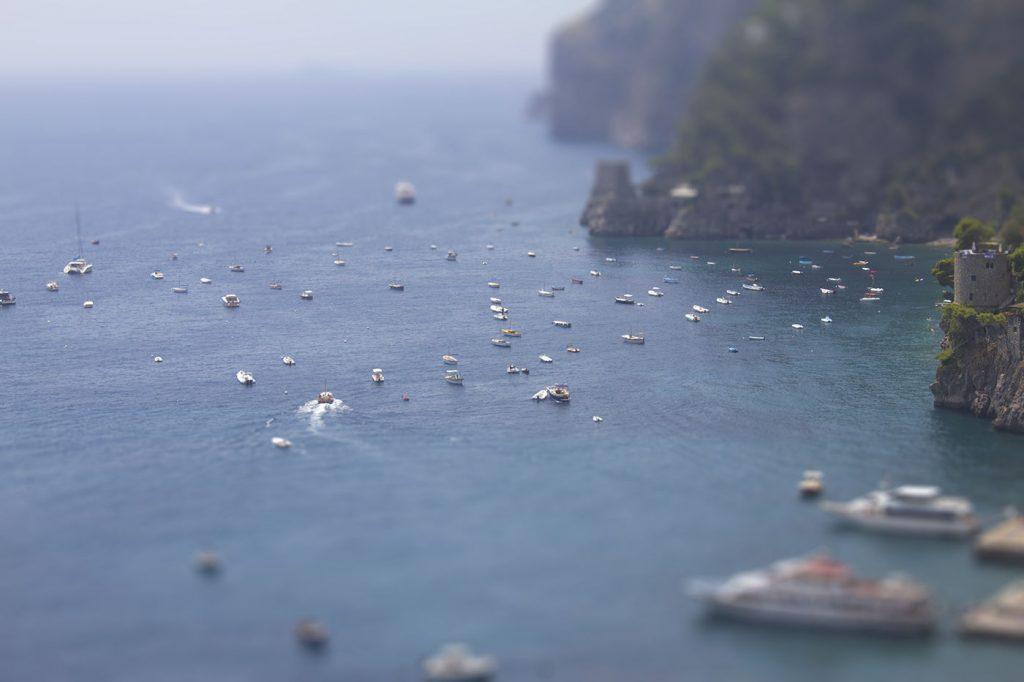 Positano Sea Tilt Shift